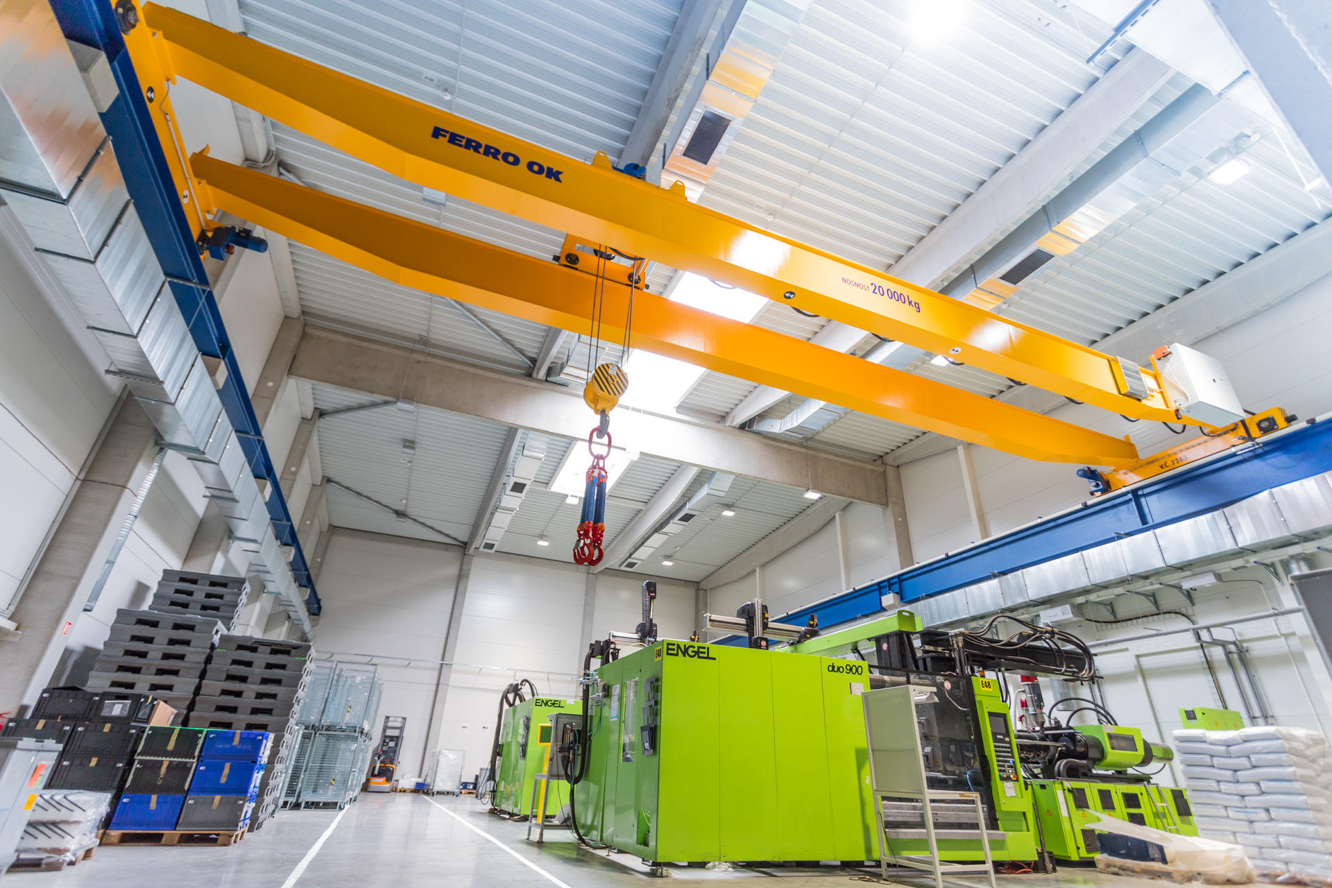 Two new injection molding presses
